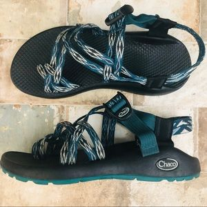 Womans Chaco Sandals Double Strappy with Toe Strap